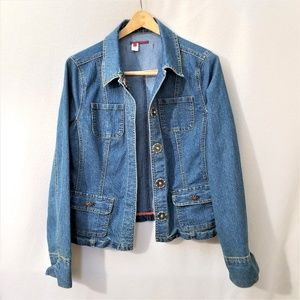 Anthropologie Tapemeasure Denim Jacket